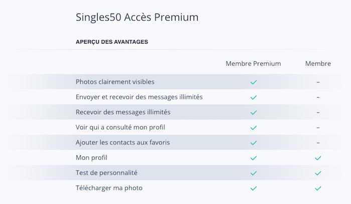 singles50 tarif